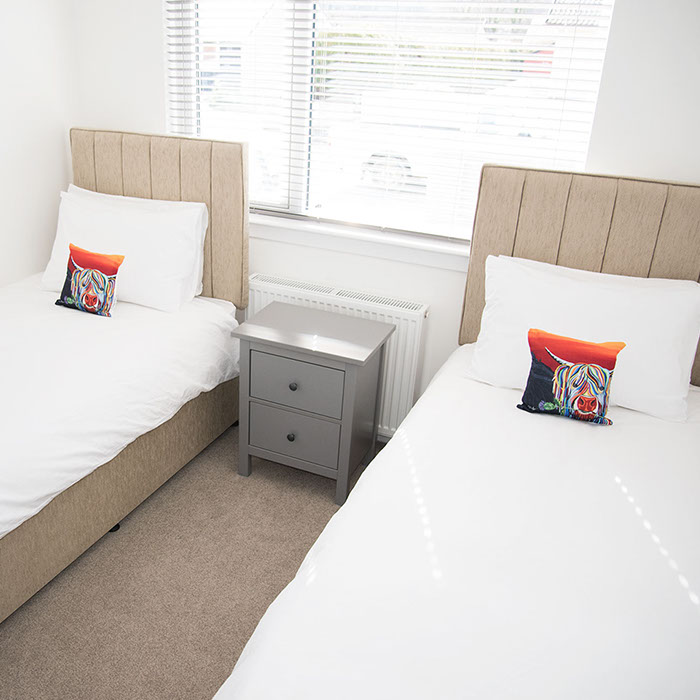 twin room in our Portree self catering